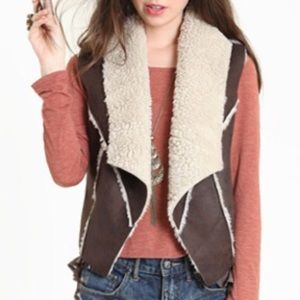 BB Dakota shearling/faux leather vest
